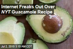 The Internet Freaks Out Over a NYT Guacamole Recipe