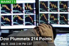 Dow Plummets 214 Points