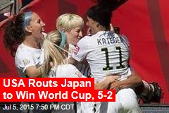 USA Routs Japan to Win World Cup, 5-2