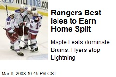 Rangers Best Isles to Earn Home Split