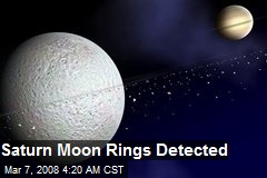 Saturn Moon Rings Detected