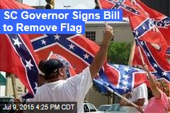 SC Governor Signs Bill to Remove Flag
