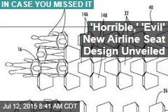'Awful,' 'Evil' New Airline Seat Design Unveiled