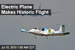 Electric Plane Makes Historic Flight