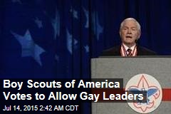 Boy Scouts of America Votes to Allow Gay Leaders