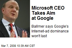 Microsoft CEO Takes Aim at Google
