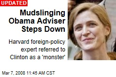 Mudslinging Obama Adviser Steps Down