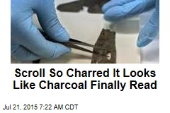 Scroll So Charred It Looks Like Charcoal Finally Read
