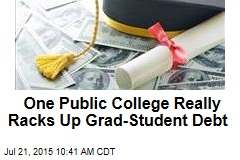 One Public College Really Racks Up Grad-Student Debt