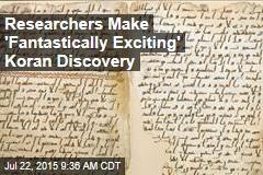 Found: Ancient Koran Perhaps Written by Muhammad Pal