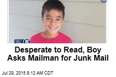 Desperate to Read, Boy Asks Mailman for Junk Mail