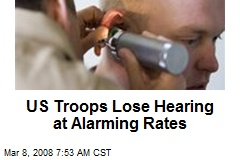 US Troops Lose Hearing at Alarming Rates