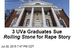 3 UVa Graduates Sue Rolling Stone for Rape Story