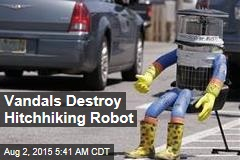 Vandals Destroy Hitchhiking Robot