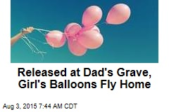 Released at Dad's Grave, Girl's Balloon Flies Home