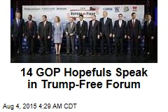 14 GOP Hopefuls Speak in Trump-Free Forum