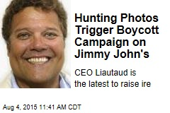 Hunting Photos Trigger Boycott Campaign on Jimmy John's