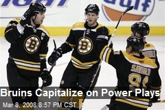Bruins Capitalize on Power Plays