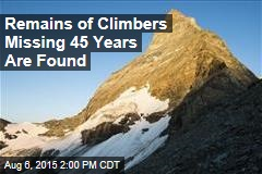 Remains of Climbers Missing 45 Years Are Found