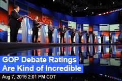 GOP Debate Ratings Are Kind of Incredible