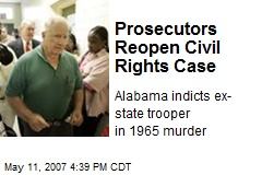 Prosecutors Reopen Civil Rights Case