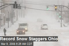 Record Snow Staggers Ohio