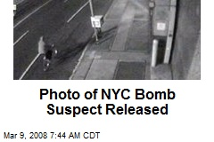 Photo of NYC Bomb Suspect Released