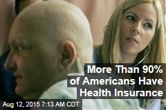 More Than 90% of Americans Have Health Insurance