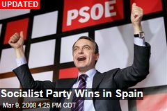 Socialist Party Wins in Spain