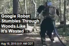 Google Robot Stumbles Through Woods Like It's Wasted