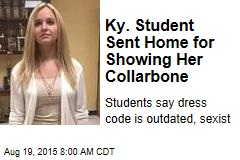 Ky. Student Sent Home for Showing Her Collarbone