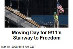 Moving Day for 9/11's Stairway to Freedom