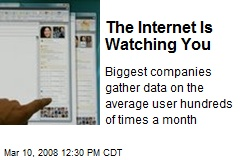 The Internet Is Watching You