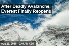 After Deadly Avalanche, Everest Finally Reopens
