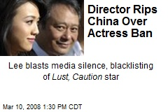 Director Rips China Over Actress Ban