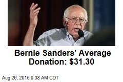 Bernie Sanders' Average Donation: $31.30