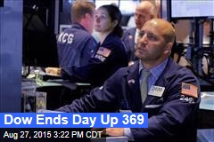 Dow Ends Day Up 369