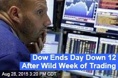 Dow Ends Day Down 12 After Wild Week of Trading