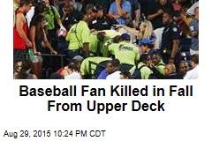 Baseball Fan Killed in Fall From Upper Deck