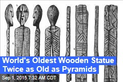 World's Oldest Wooden Statue Twice as Old as Pyramids