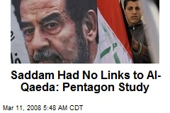 Saddam Had No Links to Al-Qaeda: Pentagon Study