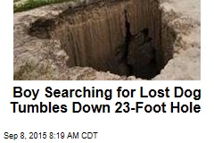 Boy Searching for Lost Dog Tumbles Down 23-Foot Hole