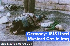 Germany: ISIS Used Mustard Gas in Iraq
