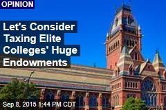 Let's Consider Taxing Elite Colleges' Huge Endowments