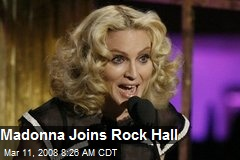 Madonna Joins Rock Hall