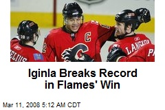 Iginla Breaks Record in Flames' Win