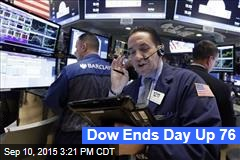 Dow Ends Day Up 76