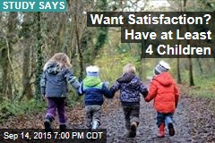 Parents With 4 or More Kids Are Happiest