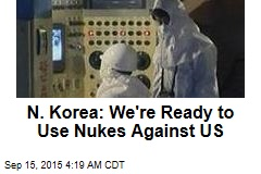 N. Korea: We've Restarted Nuke Plants