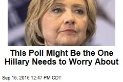 This Poll Might Be the One Hillary Needs to Worry About